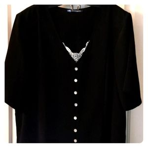 Long Black Dress Sz 2X